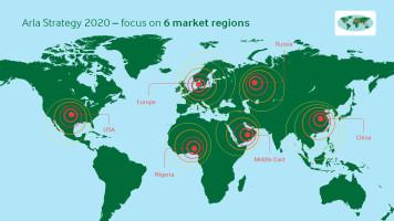Arla strategi 2020 markedsregioner