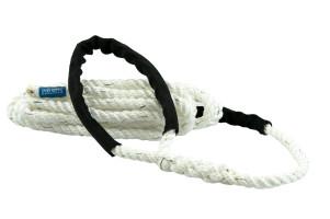Bild med länk till högupplöst bild Förtöjningslinan STORM vit med svarta slithylsor