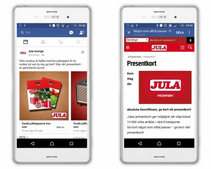 Sälj presentkort på Facebook i
