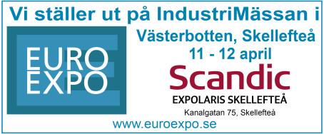 Scandinavian Friction ställer ut på Euroexpo i Skellefteå!