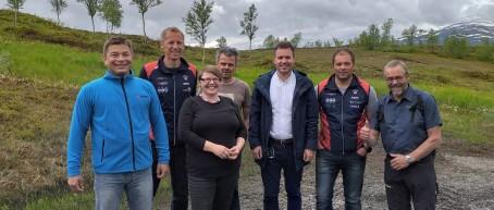 Representanter fra Valnesfjord Helsesportssenter, Valnesfjord idrettslag og Sparebanken Nord Norge