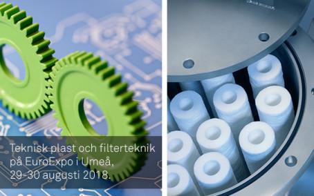 Filter och konstruktionsplast på EuroExpo i Umeå
