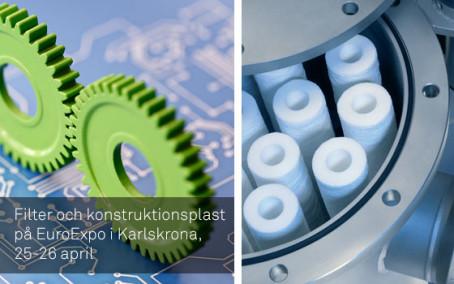 Filter och konstruktionsplast på EuroExpo i Karlskrona