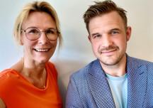 Folkleks grundare Katja Skånér och Johan Hedengren