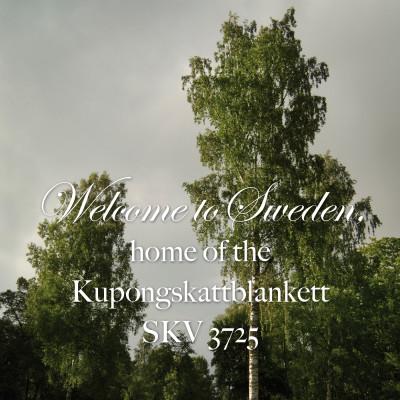 Welcome to Sweden, home of the Kupongskattblankett SKV 3725.