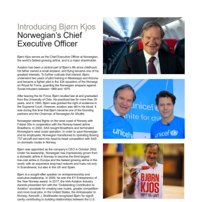 Fact Sheet: CEO Bjørn Kjos