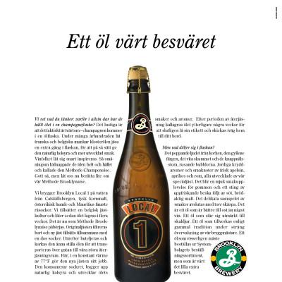 Brooklyn Breweries gör annonsdebut