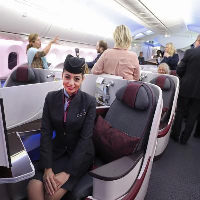 Purser ombord Qatar Airways