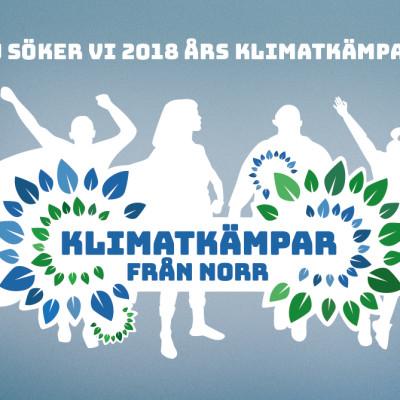 Nu efterlyser Energikontor Norr 2018 års Klimatkämpar!