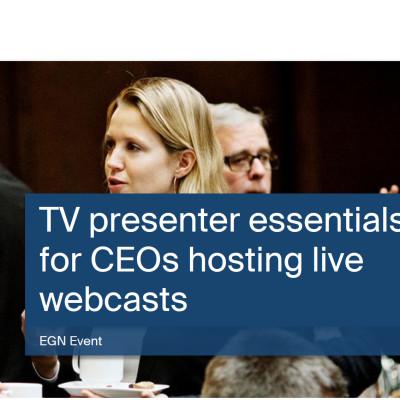 TV presenter essentials for CEOs hosting live webcasts