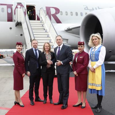 Qatar Airways new direct route inaugurated at Göteborg Landvetter Airport