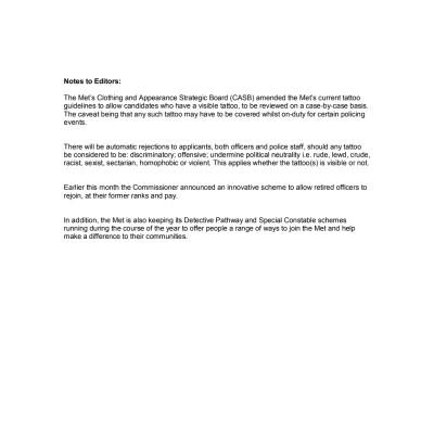 Notes to Editors - Recruitment Campaign