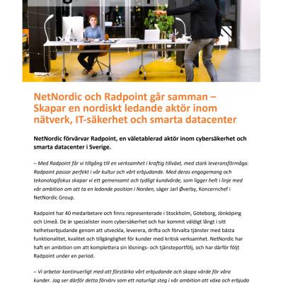 PM - NetNordic + Radpoint - SWE