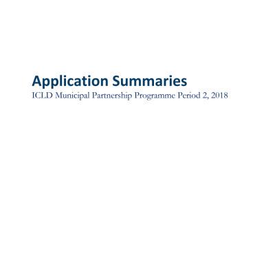 ICLD Municipal Partnership Programme Period 2, 2018
