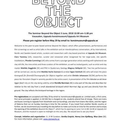 Program - The Seminar Beyond the Object