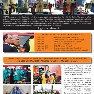 The Port of Naantali participates in various EU projects  - Hazard Newsletter no 5.