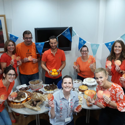 Fred. Olsen staff raise over £280 as part of Alzheimer's Research UK's 'Share the Orange' campaign