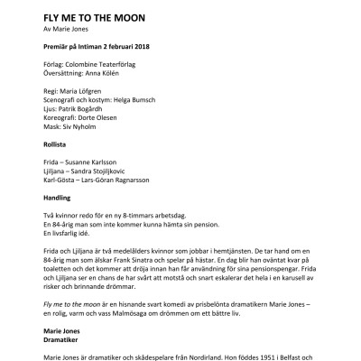 Pressmaterial till Fly me to the moon