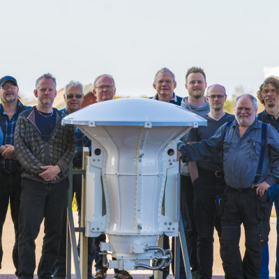 The engineering team from Chalmers which built the receiver