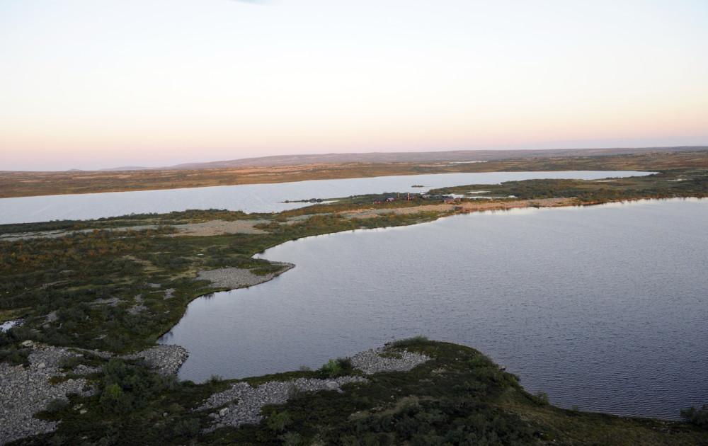 Rösjöstugorna i Fulufjällets nationalpark.