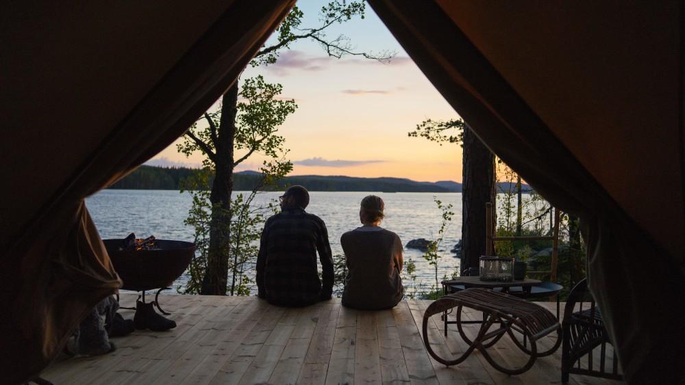 Glamping på Korså Forest Camp. Foto: Jakob Wallin.