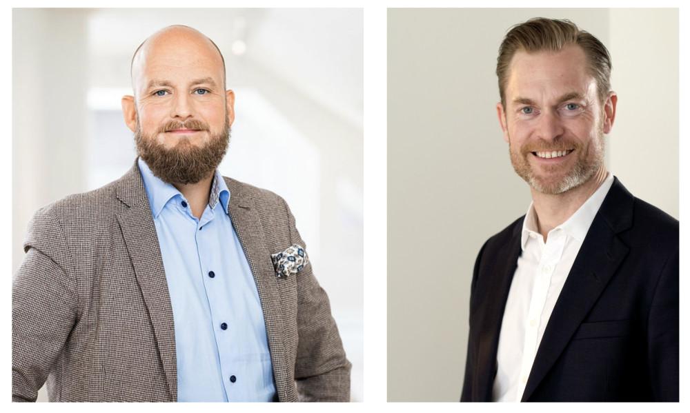 Florian Westerdahl, CTO på Lindex och Tobias Larsson, chef Telia företagsaffär.