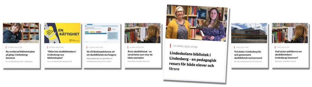 Skolbibliotekets Dag firas i höst på Lindeskolans Bibliotek i Lindesberg 2