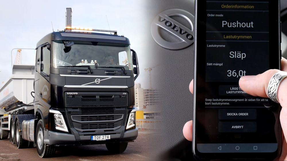 Lastbils- och maskinförarna loggar in i samma system via appen Effektiv utlastning