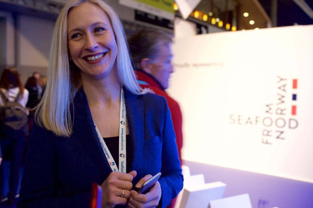 Renate Larsen, CEO of the Norwegian Seafood Council