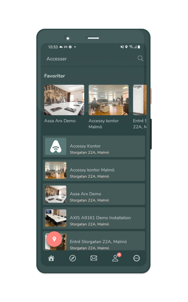 Aptus passerkontroll via app