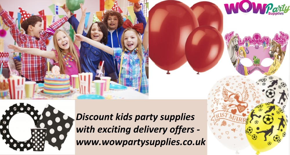 Discount Kids Party Supplies With Exciting Delivery Offers - Wow