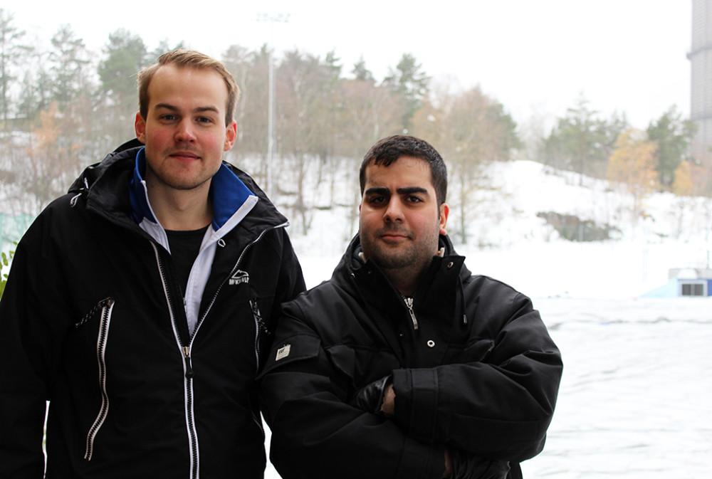 Edvin Karlström och Kardo Al-Nazar, från Vikarieförmedlingen