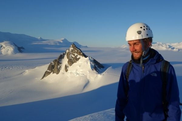 Dr Sebastian Rosier at Pine Island Glacier in 2015
