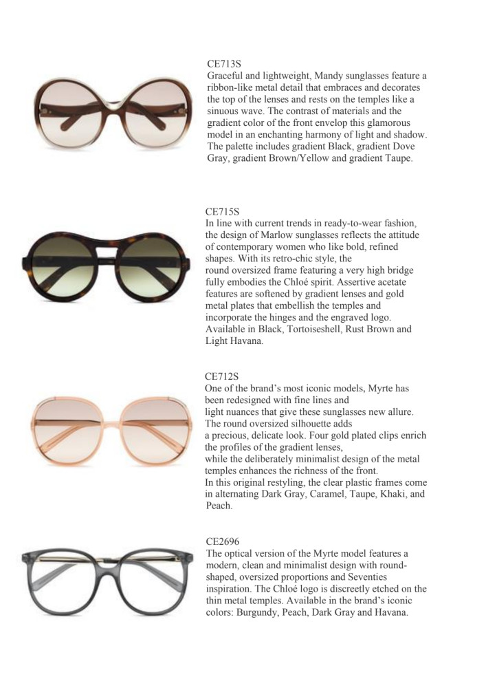 Chloé's new Eyewear Collection