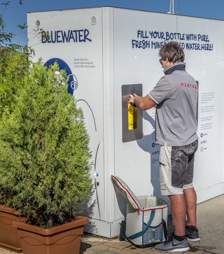Nothing like sweet water from Bluewater for professional crews as the professional crews