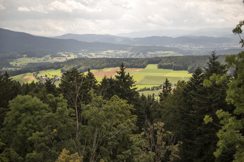 Das Panorama der malerischen Bayerwaldberge. Fotograf: Andreas Meyer