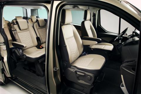 Ford Tourneo Custom, innvendig