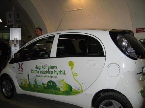 Mitsubishi i MiEV som hyrbil