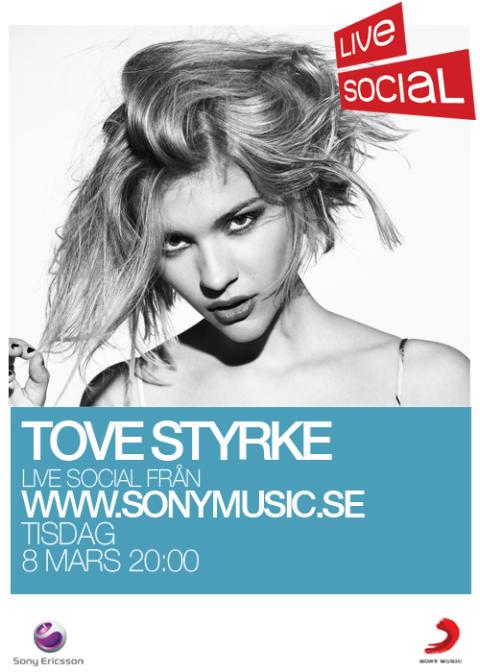 Tove Styrke premiärspelar på Sony Musics nya digitala livesatsning