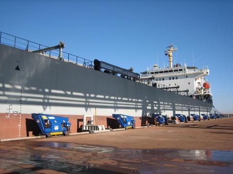All secure: automated mooring units at Port Hedland, Western Australia #ports #mooring #automation #bulkhandling
