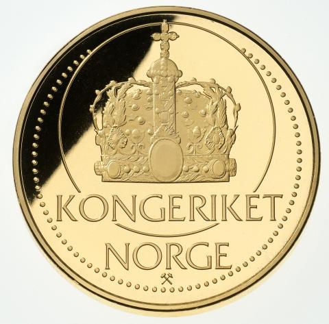 Kong Harald V 75 år jubileumsmedalje - reverse
