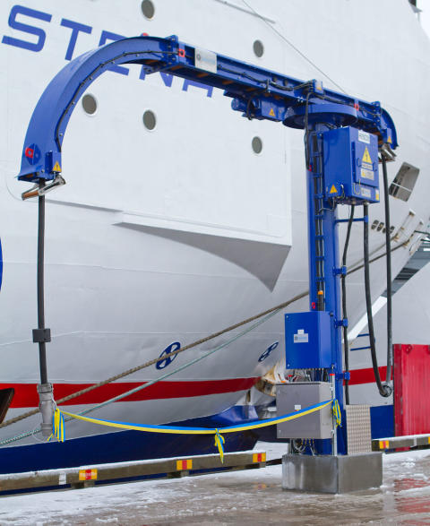 Cavotec shore power unit at Karlskrona Baltic Port