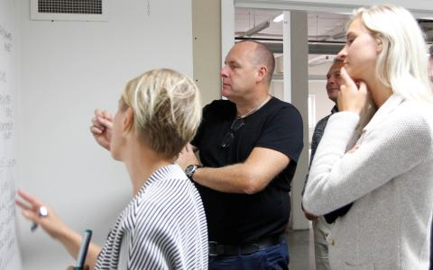 Johan Brendelökken, ingenjör och kontorschef på Liljewall deltar i den workshop som Derome, Göteborg Stad och övriga samarbetspartners höll i veckan.