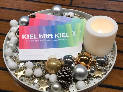 Kiel hilft Kiel Gutschein zb als Weihnachtsgeschenk
