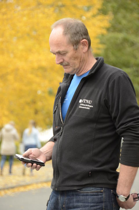 Olav Høyem, driftsansvarlig på NTNU