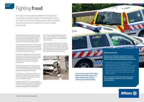 Motor newsletter March 2015 - Fighting Fraud