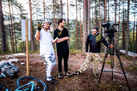 Brage laget sykkelfilm i Trysil i sommer