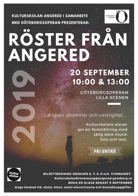Röster från Angered spelas på GöteborgsOperan