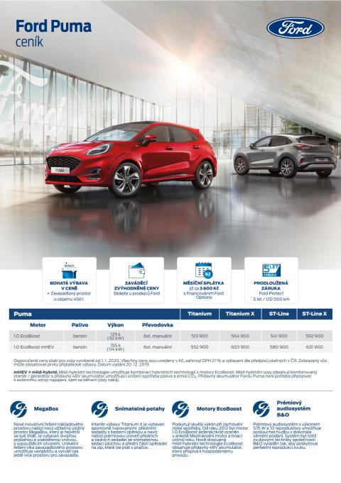 Ceník Ford Puma
