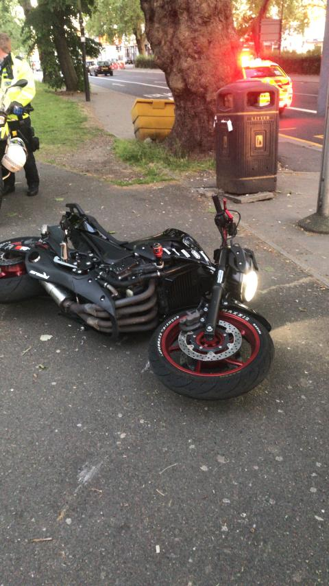 Recovered motorcycle [1]